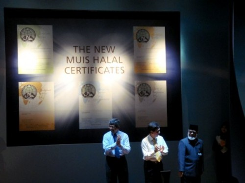 The launch of The New MUIS Halal Certificates with Guest-of-Honor Dr. Yacoob Ibrahim.