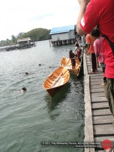 "2 brand new ""Sampan Sekolah"", the school boats."
