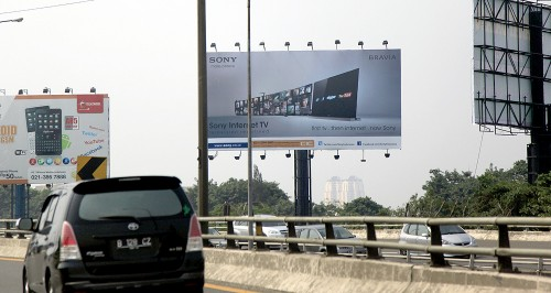 Sony Internet TV Billboard in Jakarta