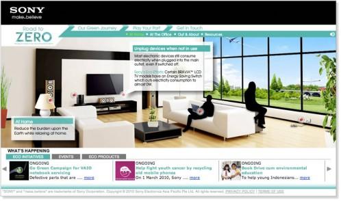 Sony ECO Website (Flash, XML & HTML)