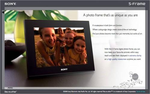 Sony S-Frame Microsite